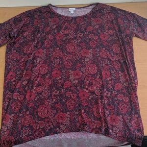 Red/purple lularoe shirt